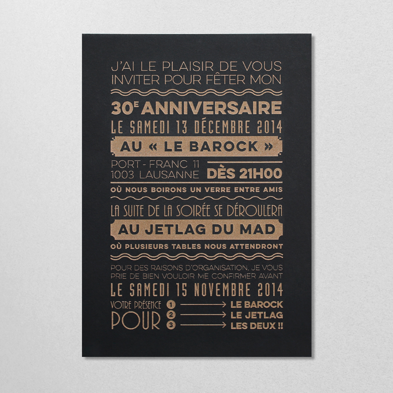 Carton d'invitation 2014
