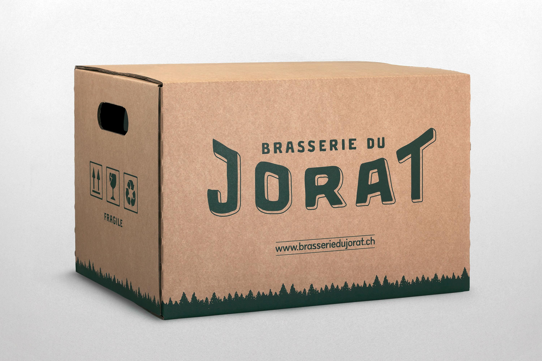 brasserie du jorat packaging identité visuelle