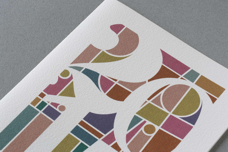 imprimerie genoud carte de voeux closeup