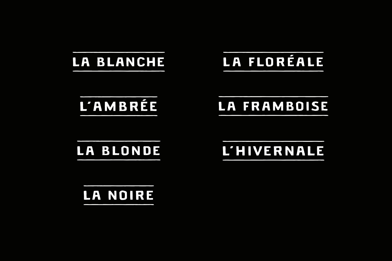 brasserie du jorat typographie identité visuelle