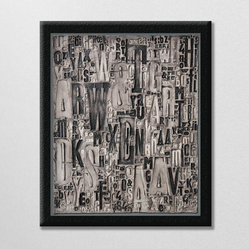 Typo – Tableau en céramique 2013