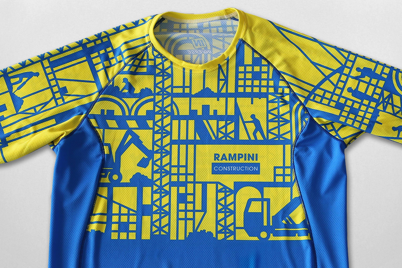 rampini construction maillot détails 2